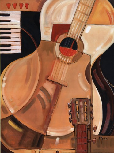 Abstract Guitar - Mini Poster by Paul Brent for $15.00 CAD