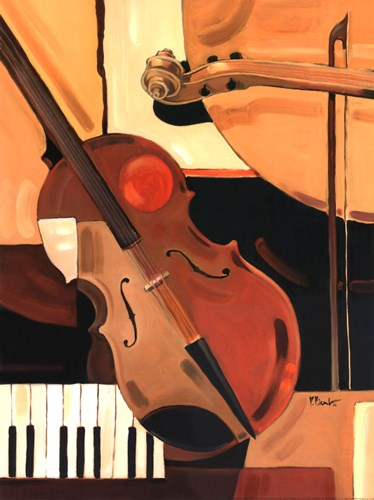 Abstract Violin - Mini Poster by Paul Brent for $15.00 CAD