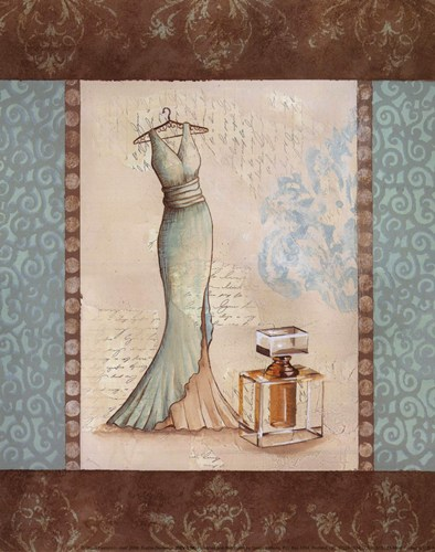 Aqua Fashion I - mini Poster by Sophie Devereux for $7.50 CAD