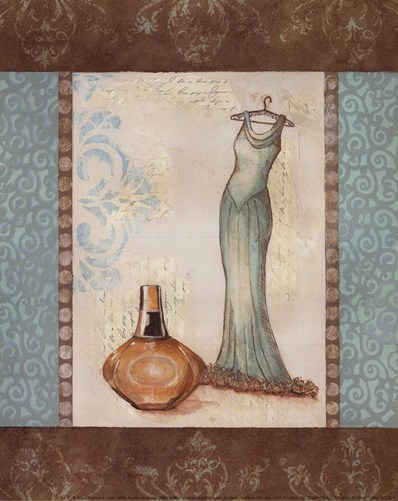 Aqua Fashion II - mini Poster by Sophie Devereux for $7.50 CAD