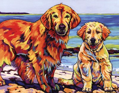 Ginger & Polar Poster by Sally Evans for $12.50 CAD
