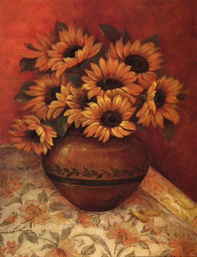 Tuscan Sunflowers II Poster by Pamela Gladding for $20.00 CAD