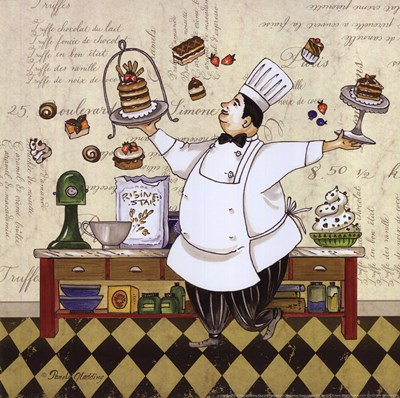 Chef Pastry Poster by Pamela Gladding for $12.50 CAD