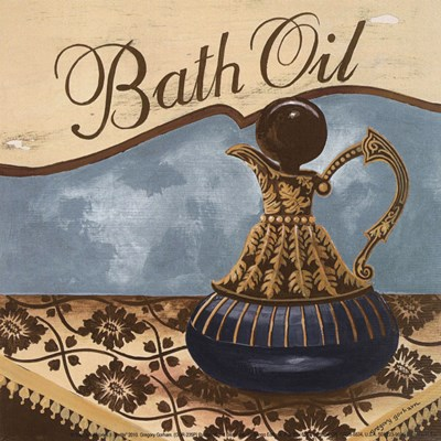 Bath Accessories II - petite Poster by Gregory Gorham for $7.50 CAD