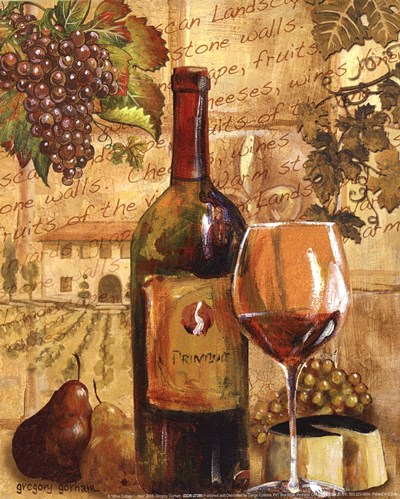 Wine Collage I - mini Poster by Gregory Gorham for $7.50 CAD