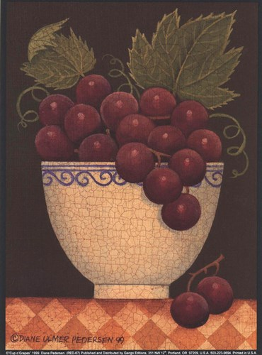 Cup O' Grapes Poster by Diane Ulmer Pedersen for $7.50 CAD