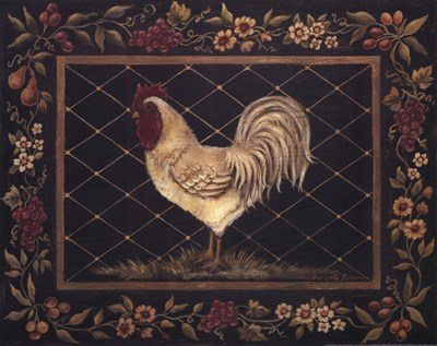 Old World Rooster Poster by Kimberly Poloson for $20.00 CAD