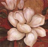 Magnolia On Red I - mini