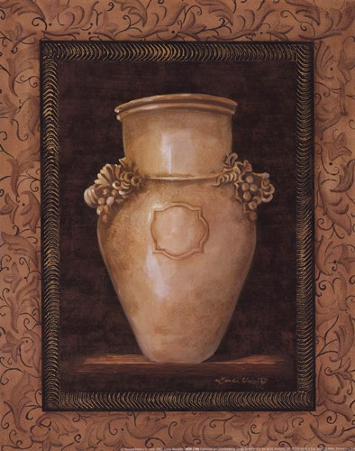 Ancient Pottery II - mini Poster by Linda Wacaster for $7.50 CAD