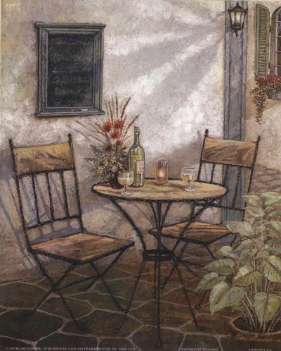 Ristorante Poster by Ruane Manning for $11.25 CAD