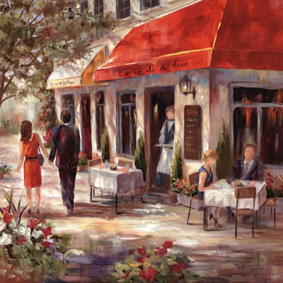 Cafe Afternoon II Poster by Nan for $13.75 CAD
