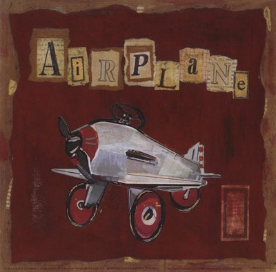 Airplane Poster by Kate and Liz Pope for $8.75 CAD