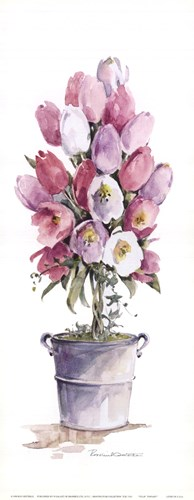 Tulip Topiary Poster by Charlene Winter Olson for $11.25 CAD