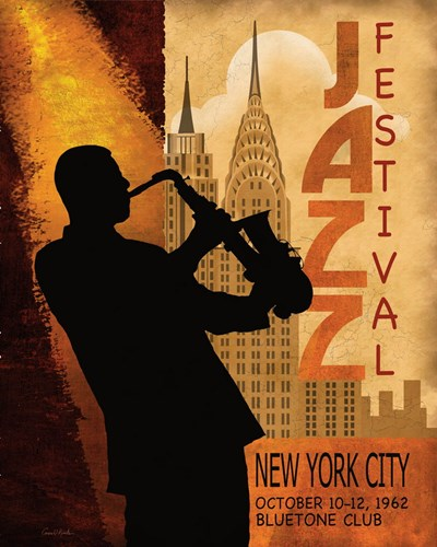 1962 Jazz in New York Poster by Conrad Knutsen for $11.25 CAD