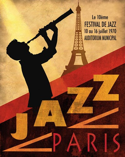 1970 Jazz in Paris Poster by Conrad Knutsen for $11.25 CAD