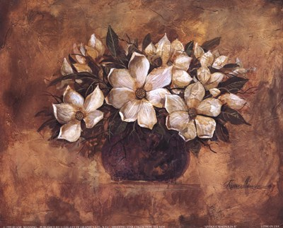 Antique Magnolia II Poster by Ruane Manning for $11.25 CAD