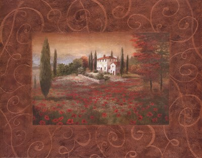 Fields Of Tuscany II Poster by Vivian Flasch for $27.50 CAD