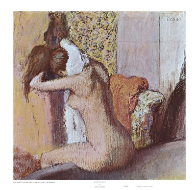 After the Bath Poster by Edgar Degas for $11.25 CAD