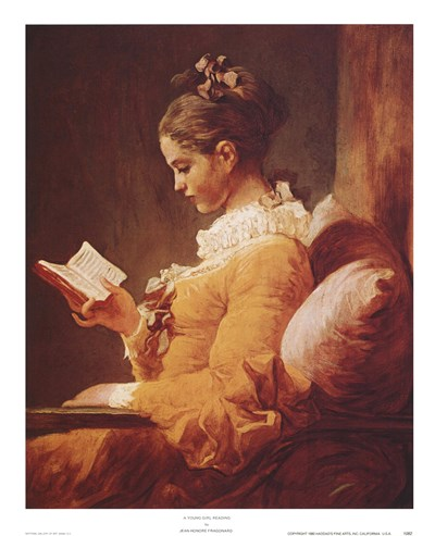 A Young Girl Reading Poster by Jean-Honore Fragonard for $11.25 CAD