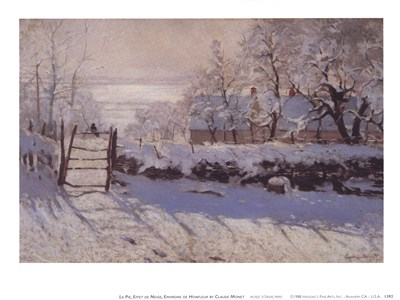La Pie, Effet de Neige Poster by Claude Monet for $11.25 CAD