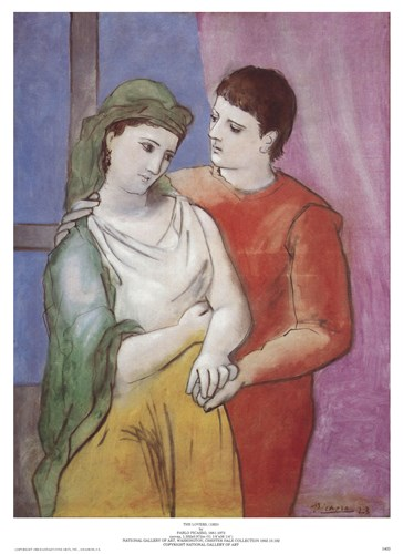 Lovers Poster by Pablo Picasso for $11.25 CAD