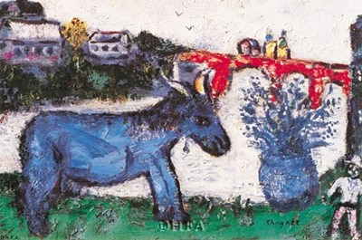 Blue Donkey Poster by Marc Chagall for $15.00 CAD