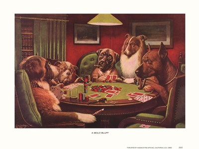A Bold Bluff Poster by Cassius Marcellus Coolidge for $15.00 CAD
