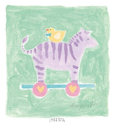 Zebra Toy Poster by Karen Anagnost for $12.50 CAD