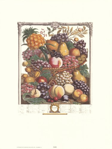 October/Twelve Months of Fruits, 1732 Poster by Robert Furber for $13.75 CAD