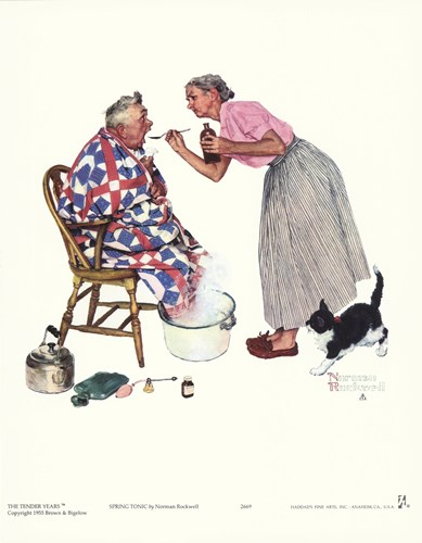 Spring Tonic Poster by Norman Rockwell for $11.25 CAD