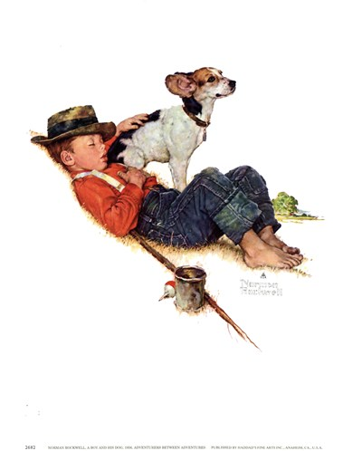 Adventurers Between Adventures Poster by Norman Rockwell for $11.25 CAD