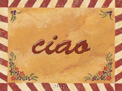 Ciao Poster by Gayle Bighouse for $11.25 CAD