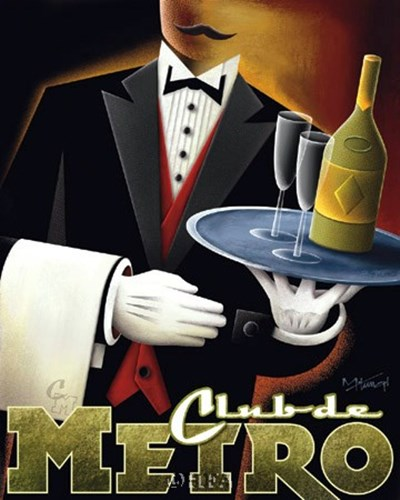 Club de Metro Poster by Michael Kungl for $20.00 CAD