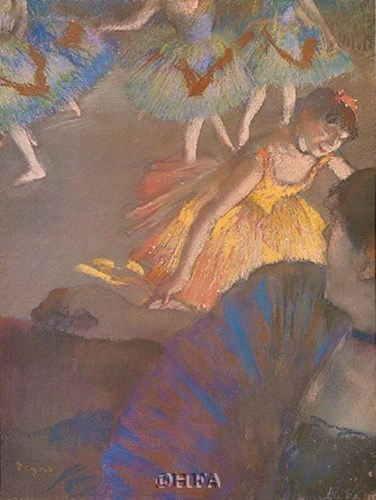Ballerina and Lady with Fan Poster by Edgar Degas for $25.00 CAD