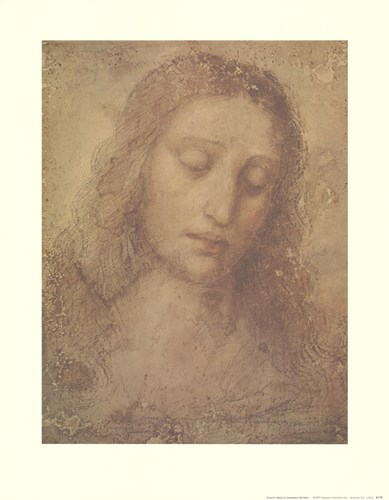 Christ's Head Poster by Leonardo Da Vinci for $21.25 CAD