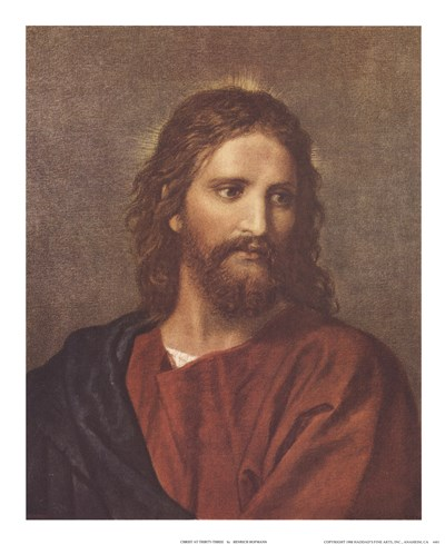 Christ at Thirty-Three Poster by Heinrich Hofman for $22.50 CAD