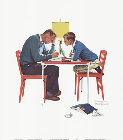 A Tough One Poster by Norman Rockwell for $20.00 CAD