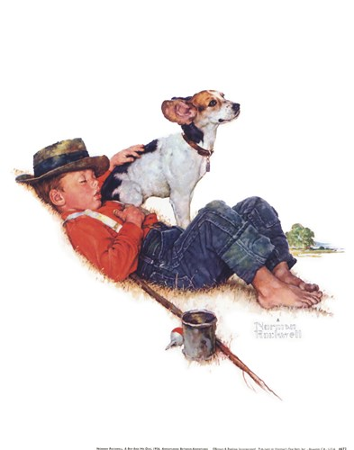 Adventurers Between Adventures Poster by Norman Rockwell for $21.25 CAD