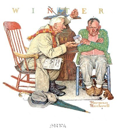 Endless Debate Poster by Norman Rockwell for $21.25 CAD