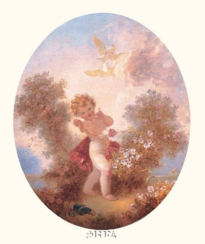 Cupid Between Roses Poster by Jean-Honore Fragonard for $27.50 CAD