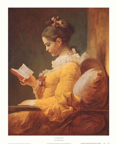 A Young Girl Reading Poster by Jean-Honore Fragonard for $31.25 CAD