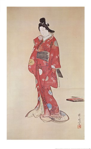 Lady In Red Poster by Kyosai for $22.50 CAD