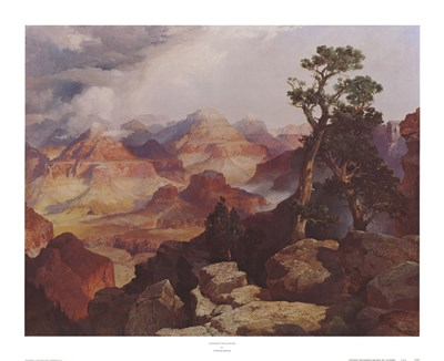 Clouds in the Canyon Poster by Thomas Moran for $33.75 CAD