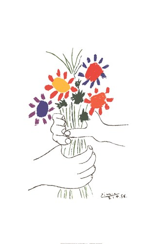 Bouquet with Hands Poster by Pablo Picasso for $33.75 CAD