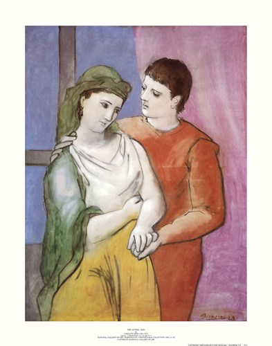 Lovers Poster by Pablo Picasso for $31.25 CAD