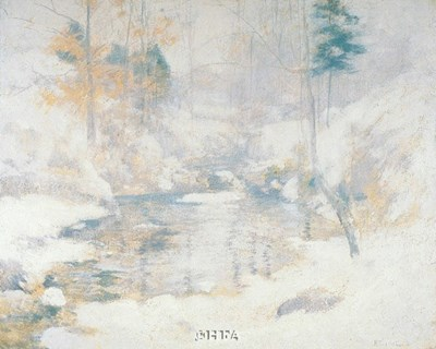 Winter Harmony Poster by John H. Twachtman for $35.00 CAD