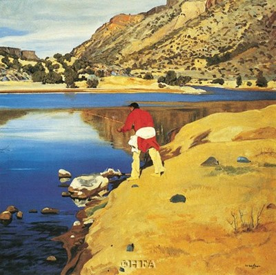 Along the Rio Grande Poster by Walter Ufer for $22.50 CAD