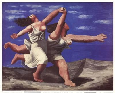Deux Femmes Courant sur la Plage Poster by Pablo Picasso for $35.00 CAD