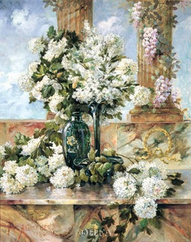 Hydrangeas in Bloom Poster by Paul Groeber for $52.50 CAD