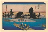 Tokaido No. 3 Ferry on the River